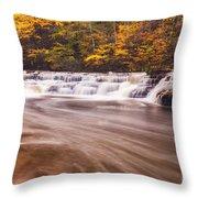 Campbell Falls In Autumn Throw Pillow