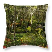 Campbell Rhododendron Gardens 2am 6831-6832 Panorama Throw Pillow