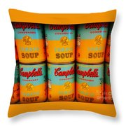 Campbell's Soup Retro Andy Warhol Throw Pillow