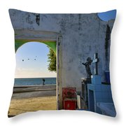 Campeche Malecon Throw Pillow