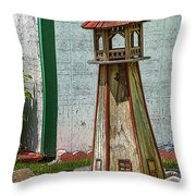 Campers Lighthouse Throw Pillow