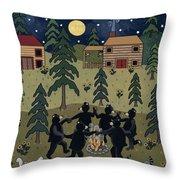 Campfire Dance Throw Pillow