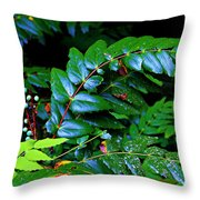 Campground Foliage Throw Pillow