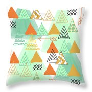 Camping Throw Pillow by Linda Woods