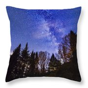 Camping Under The Milky Way Throw Pillow