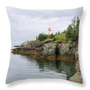 Campobello Island -  East Quoddy Lightstation Throw Pillow