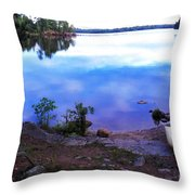 Campsite Serenity Throw Pillow