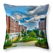 Campus Life Throw Pillow