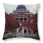 Campus Of Texas Am Throw Pillow