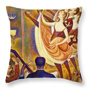 Can Can Le Chahut Throw Pillow