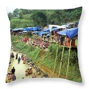 Can Cau Market Throw Pillow