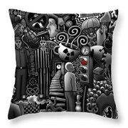 Can 'o' Worms Throw Pillow by Matthew Ridgway
