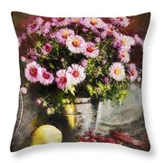 Can Of Raspberries Throw Pillow