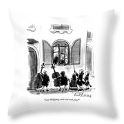 Can Wolfgang Come Out And Play? Throw Pillow