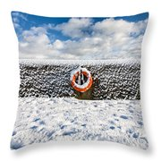 Can You Drown In Snow? Throw Pillow