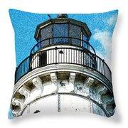 Cana Island Lighthouse Tower Throw Pillow