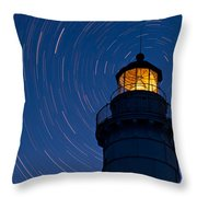 Cana Island Lighthouse Solstice Throw Pillow