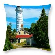Cana Island Wi Lighthouse Throw Pillow