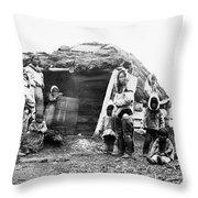 Canada Eskimo Family, 1860 Throw Pillow