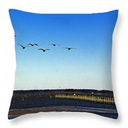 Canada Geese At Northside Park Throw Pillow