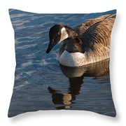 Canada Goose Winter Swim Throw Pillow