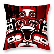 Canada - Inuit Village Totem Throw Pillow