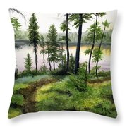 Canada Morning Throw Pillow