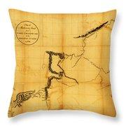 Canada Western 1801 Throw Pillow