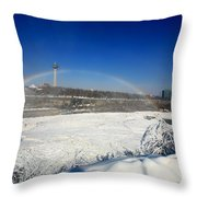 Canadain Rainbow Throw Pillow