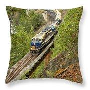 Canadan Railroad Above The Cheakamus River Throw Pillow