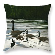 Canadas On Wilson Lake Nc Throw Pillow