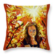 Canadian Autumn Throw Pillow