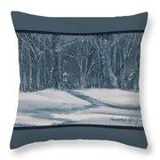 Canadian Backyard Throw Pillow