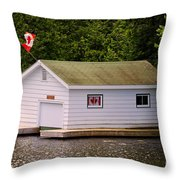 Canadian Boathouse  Throw Pillow