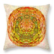 Canadian Fall Colors Conversion Into Chakra Wheel Deco Enery Mandala Throw Pillow