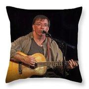 Canadian Folk Singer James Keeglahan Throw Pillow