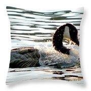 Canadian Goose Wash Throw Pillow