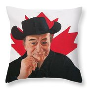 Canadian Icon Stompin' Tom Conners  Throw Pillow