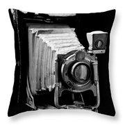 Canadian Kodak Black And White Camera Throw Pillow