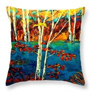 Canadian  Landscape Artist Carole Spandau Throw Pillow