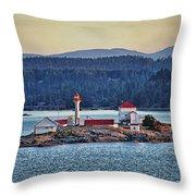 Canadian Lighthouses Sc3415-13 Throw Pillow