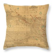 Canadian Mounted Police Map Throw Pillow