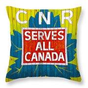 Canadian National Railway Stamp Throw Pillow