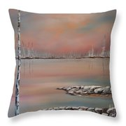 Canadian Northern Reflections Throw Pillow by Beverly Livingstone