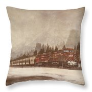 Canadian Pacific In Banff  Throw Pillow