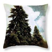 Canadian Pines Throw Pillow