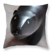 Canadian Polar Bear Carving Throw Pillow