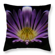 Canadian Purple Wildflower Throw Pillow
