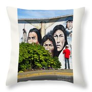 Canadian Retrospective Throw Pillow