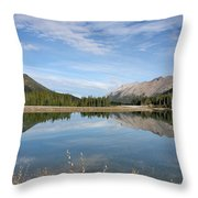 Canadian Rocky Mountains With Lake  Throw Pillow